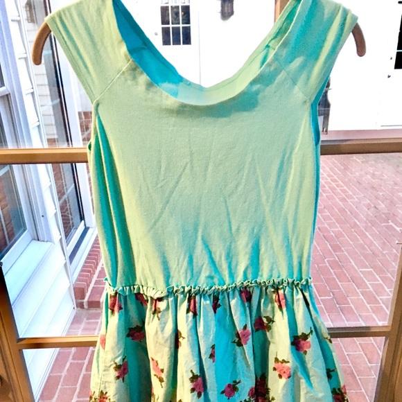 Betsey Johnson Dresses & Skirts - Betsey Johnson Blue Floral Cotton Sundress